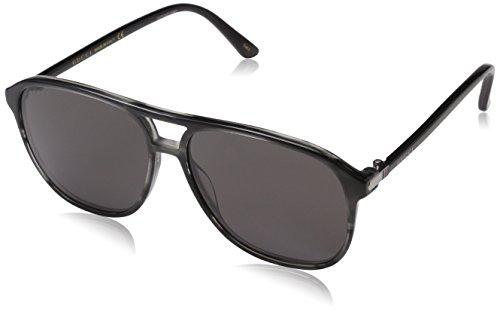 Gucci Herren GG0016S 002 Sonnenbrille, Braun (Avana/Grey), 58