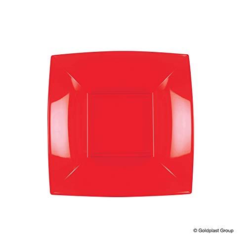 Party Style 8057 - 18PS Assiette en porcelaine rouge