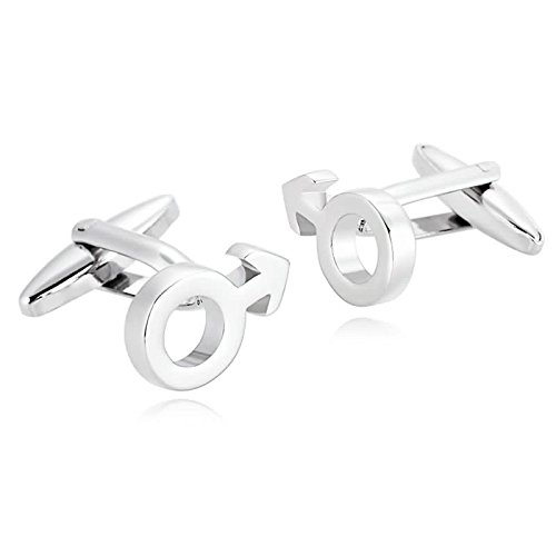 Bishilin 1 Pair Stainless Steel Cufflinks for Man Male Male Character Cufflinks Silver Wedding Shirt for Christmas Gift