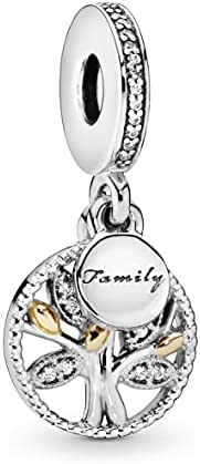 PANDORA Women's Family Heritage Dangle Charm - 791728CZ, Sterling Si