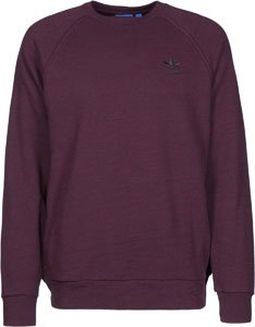 adidas Herren Premium Trefoil Sweatshirt Maroon
