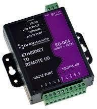 Brainboxes Ethernet to 4 Digital IO Lines + Ethernet to RS232, ED-004 (+ Ethernet to RS232) Ethernet-digital-io