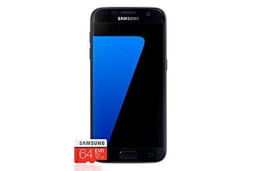 Samsung Galaxy S7 Smartphone Bundle (5,1 Zoll (12,9 cm), 32GB interner Speicher) + Samsung EVO Plus 64GB Speicherkarte - Deutsche Version