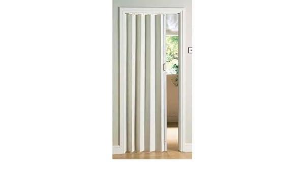 Natural Pine Folding Door PVC Internal Sliding Indoor Panel Bi Divider Utility