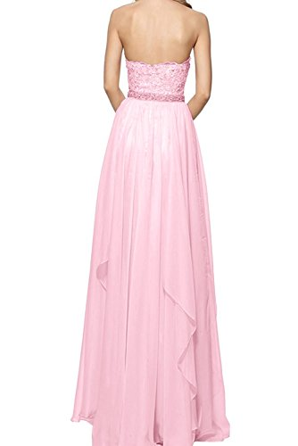 La_Marie Braut Blau Damen Spitze Traegerlos Abendkleider Promkleider Abschlussballkleider Lang Gelb