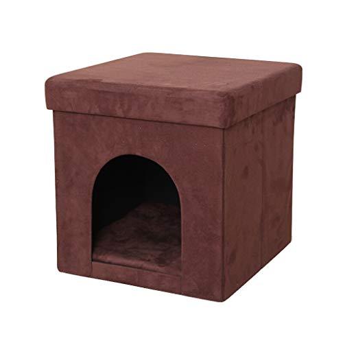 LP Bar stool Würfel-zusammenklappbares Katzen-kleines Hundekaninchen-Osmane-Eigentumswohnung-Haustier-Haus und weicher Schemel 38 * 38 * 38CM (Katze-häuser & Eigentumswohnungen)