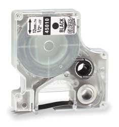 Prestige Cartridge 45010 / S0720500 Ruban Lot de 1 cassette pour Dymo LabelManager/LabelPoint/LabelWriter Duo 12 mm x 7 m Noir sur Transparent