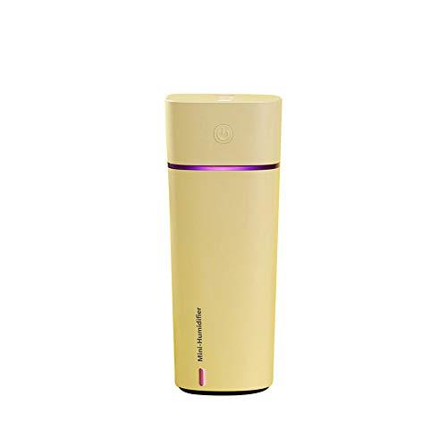 LINLIN Umidificatore Ad Ultrasuoni da Scrivania Desktop Diffusore d\'Aria Diffusore Diffuso 240Ml 16.2 * 6.45Cm,Yellow