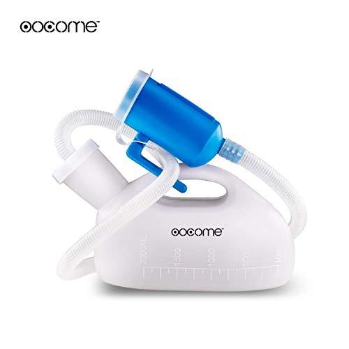 Urinflasche für Männer, OOCOME 2000ml Urinal Bottle Wiederverwendbare Portable Hohe Kapazität Verdickung Männlich Urinal für alten Mann Urin Sammler Urinal System mit 51
