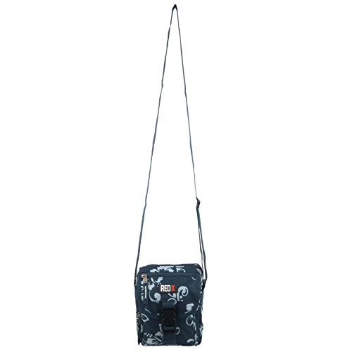 Kleine hibiscus Damen Schultertasche/Reisetasche/Utility Kreuz Körper Tasche von Rot X Festival Türkis Turquoise Hibiscus Einheitsgröße Navy Hibiscus
