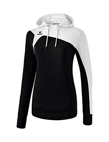 Erima Damen Club 1900 2.0 Kapuzensweat, schwarz/weiß, 36 Tennis-damen-sweatshirt
