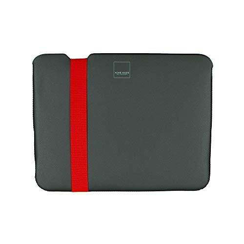 Acme Made Skinny Sleeve XXS, Ultra-dünne Tablet- und Notebookhülle, 11-12 Zoll, Neopren, grau/orange -