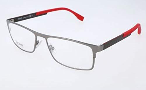BOSS Hugo Herren Hugo Orange Brille Brillengestelle, Silber, 58