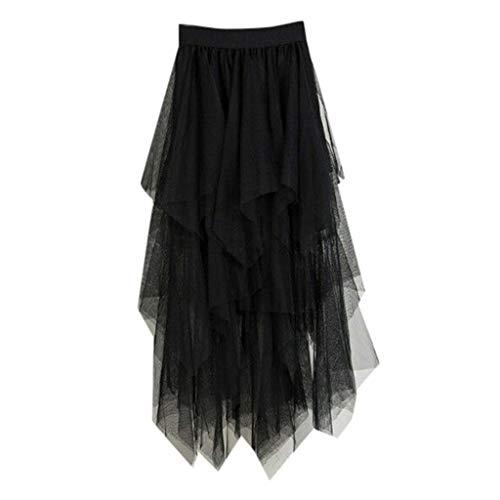 VEMOW Faldas Mujer cómoda Tul Cintura Alta Falda