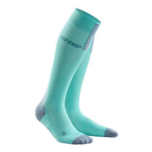 CEP - Run Socks 3.0 | Laufsocken für Damen in hellblau/grau | Größe II | Kompressionsstrumpf mit millimetergenauem Druckverlauf