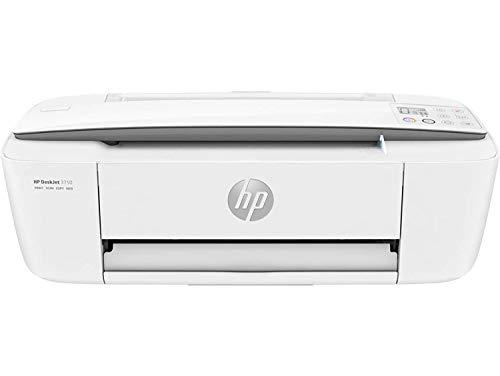HP DeskJet 3750 - Impresora de tinta multifunción (8 ppm, 4800 x 1200 DPI, A4, Wifi, Escanea, Copia, 60 hojas, Modo silencioso, Incluye 2 meses de Intant Ink), Blanca