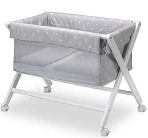 Pirulos Stars - Vestidura para minicuna, color gris