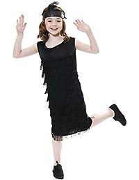 Islander Fashions Aleta infantil con traje Tassles Nias Disfraz estilo Charleston de los aos 20 Traje
