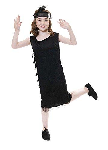 Islander Fashions Kind Flapper W/Tassles Outfit M�dchen 1920er Jahre Charleston Kost�m Tanz Kost�m Flapper Kost�m Medium 7-9 - Tanz Kostüm Flapper Kind