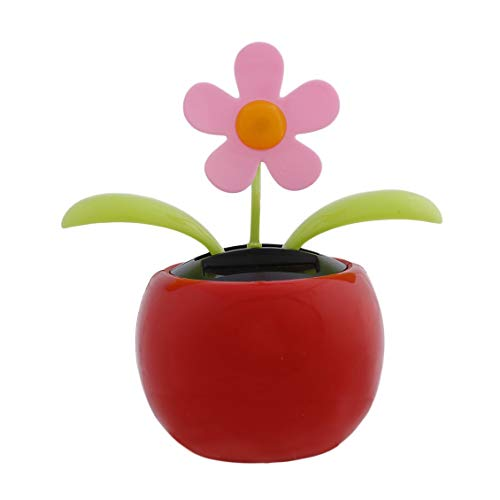 Solar Power Swing (Prima05Sally Home Decorating Solar Power Flower Plants Moving Dancing Flowerpot Swing Solar Car Auto Vehicles Display Toy Gift)