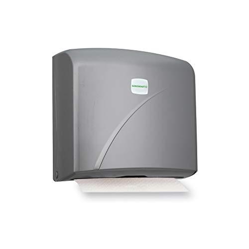 Sani Smart Ivy-Dispensador de toallas para 200hojas Z de pliege Max. 22cm, plata