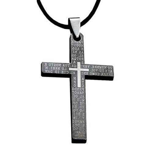 wnwl Emmanuel Christian Kreuz Halskette Herren Anhänger Jesus Schmuck