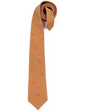 Trachten Krawatte - HIRSCH-PUNKT - azurblau, rot