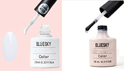 Bluesky UV/LED Gel Nail Polish French Manicure Set 10 ml - Pack of 2