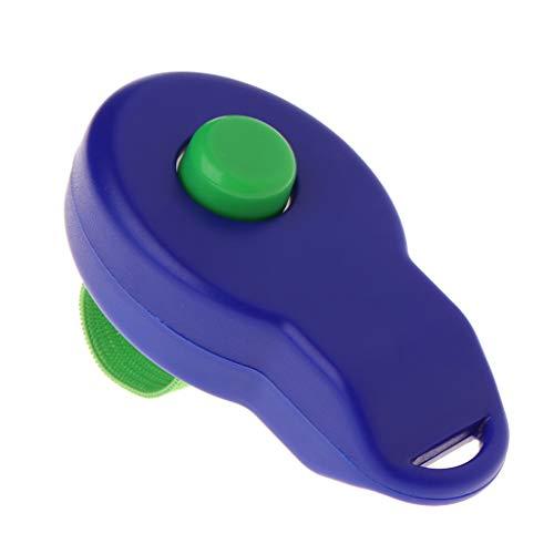 Kostüm Whistle - JunYe Pet Clicker Hundetraining Sounder Puppy Whistle Guide Liefert mit Fingerband - Blau