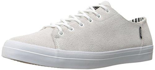 DVS Men's Edmon+ Soco Skateboarding Shoe, White Suede, 12 M US