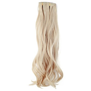 HJL-High Quality Synthetic 45 cm Clip-In Silky Wavy Hair Extension 6 Farben zur Auswahl , honey blonde (Remy-haar-erweiterungen Blonde Honey)
