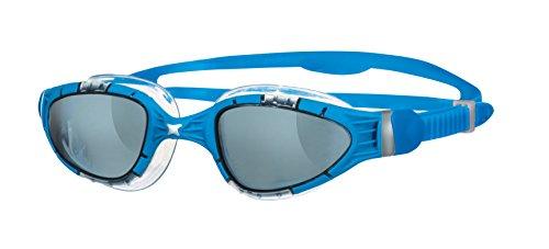 Zoggs Schwimmbrille Aqua Flex, L.Smoke/Blue, 305487
