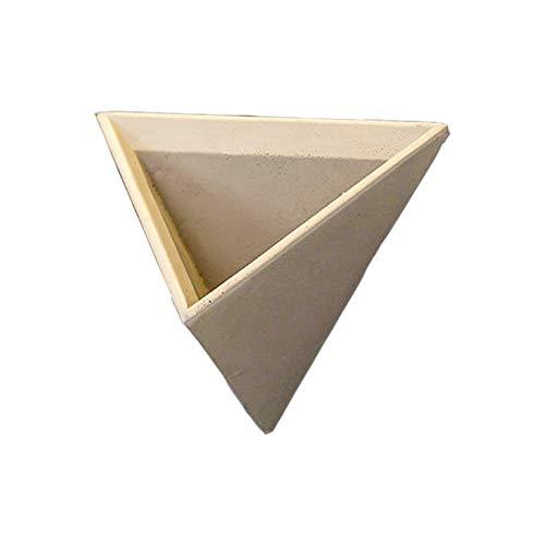 Chinashow Zement-geometrischer Wand-Pflanzer - modernes Dreieck-hängende Pflanzer-Blumen-Topf-hängende Körbe-Beige (Moderne Wand-pflanzer)