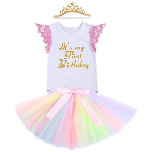 FYMNSI Einhorn Baby Mädchen Geburtstag Outfit Kleinkinder