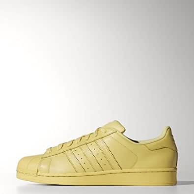 adidas Originals Men's Superstar Supercolor Pack Black Leather Sneakers - 7 UK