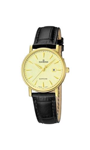 Candino C4490/2 - Reloj para mujer de cuero Resistente al agua dorado