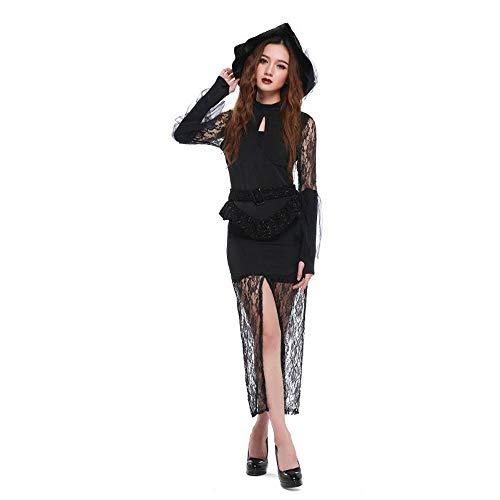 Yunfeng Hexenkostüm Damen Lace Sexy schlanke Hexe Kostüm Halloween Cosplay Kostüm
