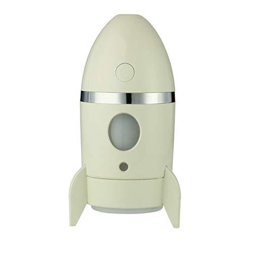 Mini USB Cohete humidificador 135ml Dormitorio de Estudiantes Oficina Escritorio Mute Coche humidificador Mist Maker hogar Mesa purificador de Aire,Yellow