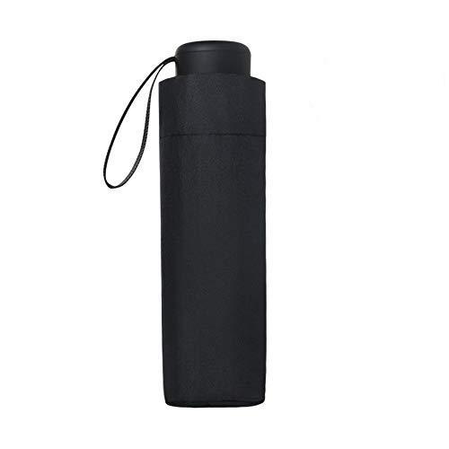 Vicloon Mini Paraguas Pequeño del Sol,Paraguas de Viaje Portátil Resistente Anti UV Plegable Longitud 17cm 6 Costillas Grueso Negro Tela de Goma,para Actividades al Aire Libre - Adultos y Niños