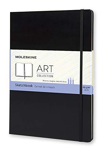 Moleskine Kreativ Notizbücher, Skizzenbuch, A4, 165G Papier, Hard Cover, schwarz
