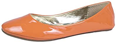 WOMENS PATENT BALLET PUMPS FLATS SHOES LADIES GIRLS COMFORTABLE BALLERINAS FAUX LEATHER NUDE SIZE 3