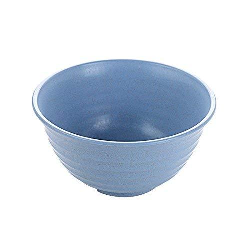 QINCH Kitchen Tazón de sopa grande de pajilla de trigo Utensilios para comer Ensalada Tazón de arroz para comer Un tazón de fideos instantáneos Cuenco Grande Azul nórdico