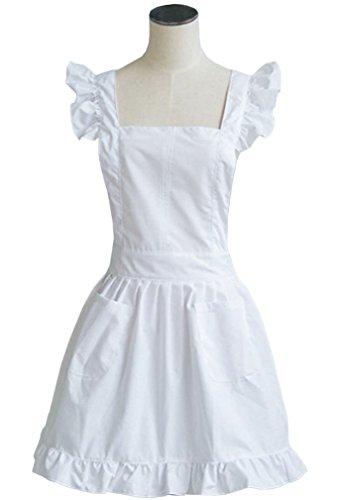 Kostüm Dienstmädchen Kind - LilMents Petite Maid Rüschen Retro Schürze Küche Kochen Reinigung Dienstmädchen Kostüm
