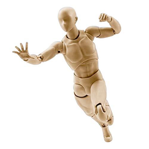 enschliche Schaufensterpuppe - Figur Hölzerne Puppe Künstler menschliche Schaufensterpuppe Modell Skizzierhilfe mit beweglichen verstellbaren Gliedmaßen (B) ()