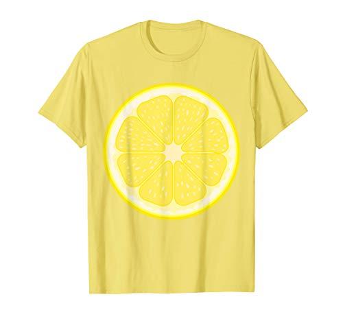 Große Zitrone Scheiben Kostüm Frucht Halloween Geschenk T-Shirt