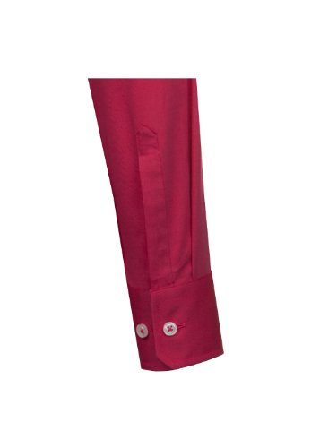 Seidensticker Hemd Uno Kentkragen in Langarm (66cm) Bügelleicht rot, Einfarbig Mittelrot