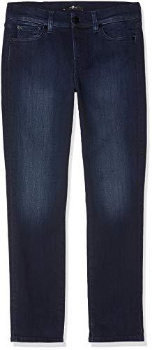 Seven for all Mankind International SAGL Damen MID Rise Roxanne Crop Slim Jeans, Blau Illusion Luxe Cruz 0Al, W28/L28 (Herstellergröße:28) -