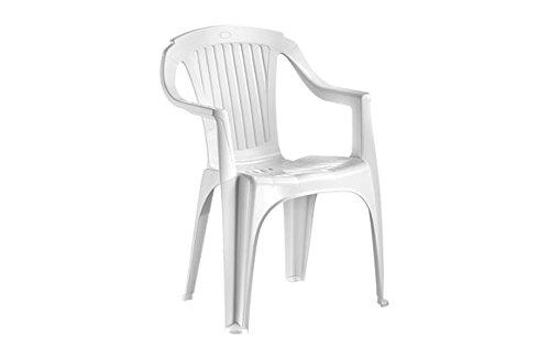 IDEA Fauteuil Monobloc Verona Blanc