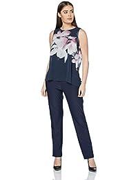 2d7a948dbe6150 Roman Originals Damen Jumpsuit mit Blumenmuster in Blau Größe ...