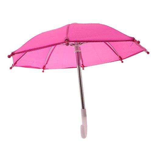 Sharplace Miniatur Schirm/ Regenschirm / Stockschirm - Puppenzubehör für 18'' Puppen Regenmantel - Rosa